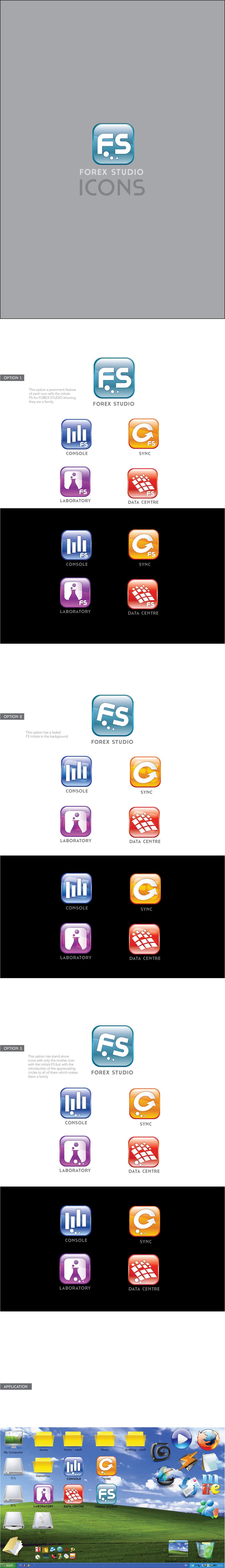 Proposition n°                                        32                                      du concours                                         Application Icons for Forex Studio (Windows software)