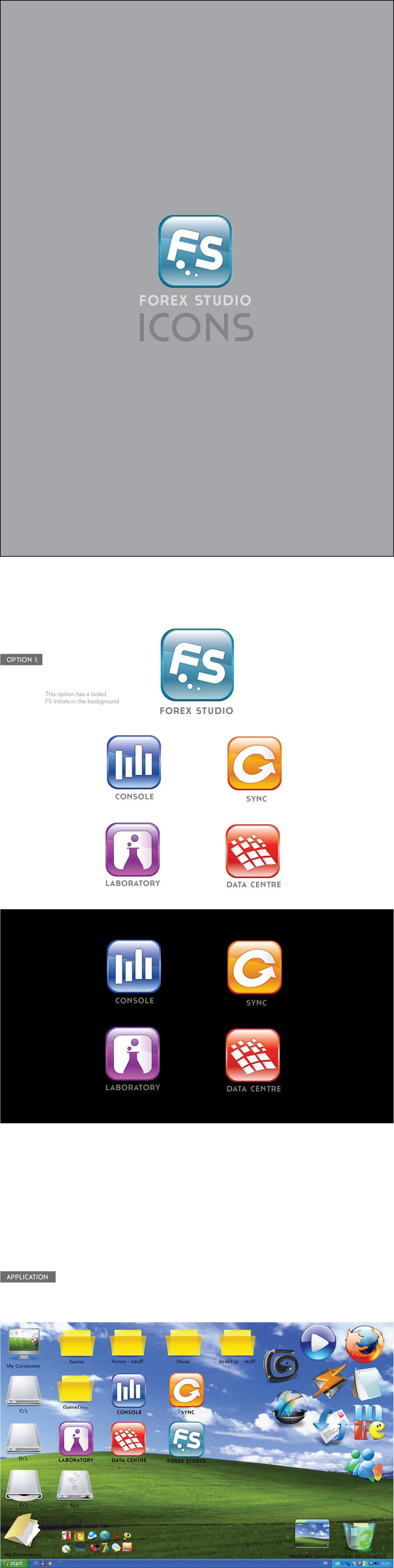 Proposition n°                                        40                                      du concours                                         Application Icons for Forex Studio (Windows software)