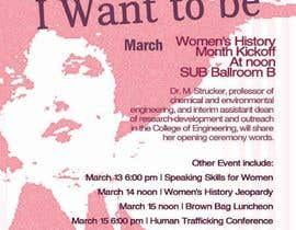 #27 para Graphic Design for TicketPrinting.com WOMEN'S HISTORY MONTH POSTER & EVENT TICKET por richhwalsh