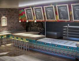 #2 para Diseño de interior de establicimiento de comida rapida latina de joaillustrator