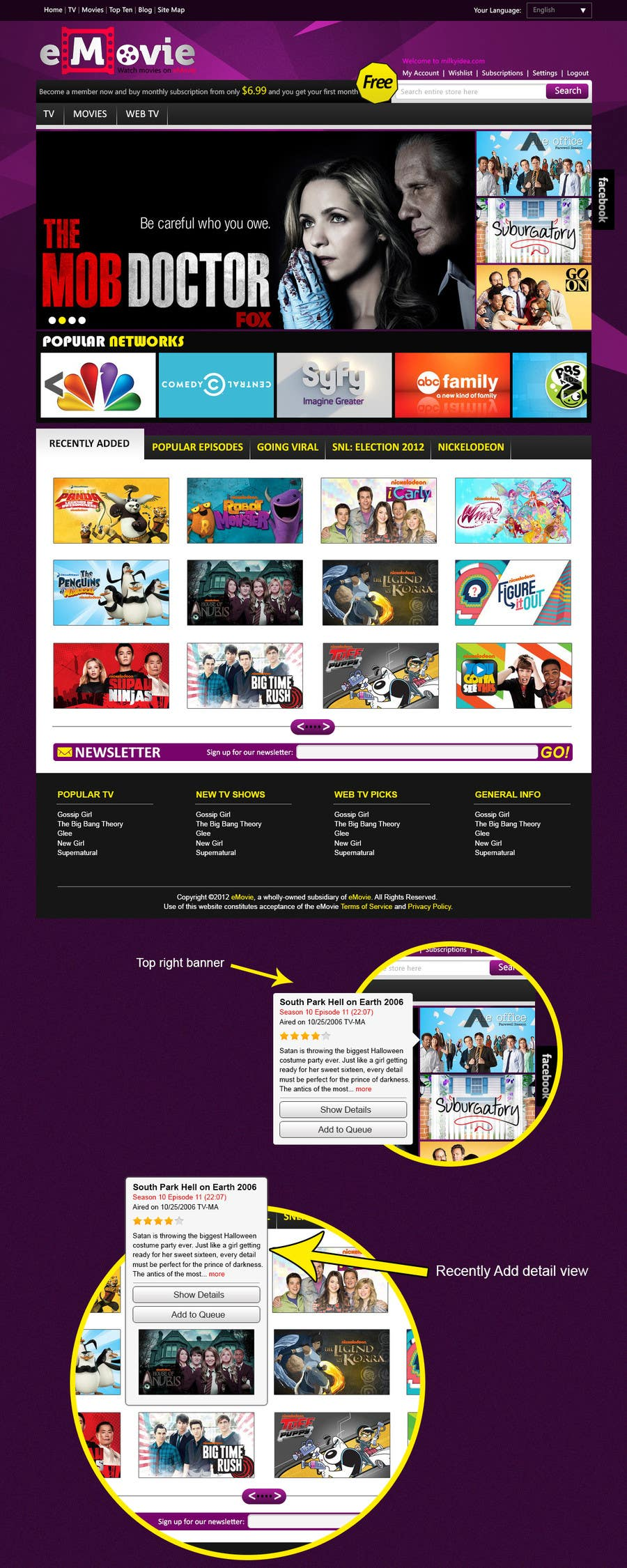 #33 for Website Design for eMovie - Online Movie Streaming by CreativeXperts