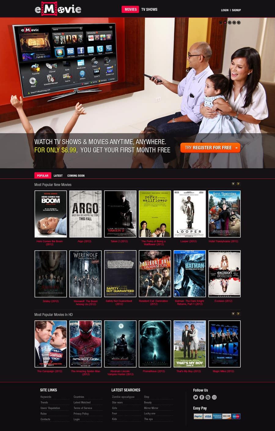 #7 for Website Design for eMovie - Online Movie Streaming by iNoesis