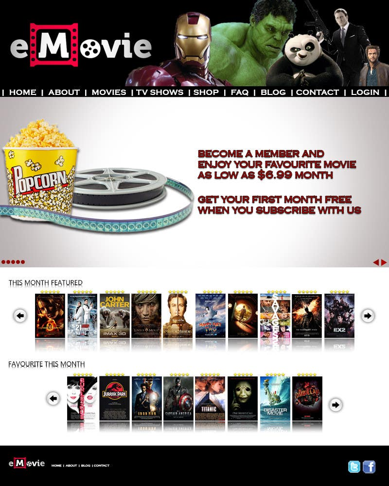 #47 for Website Design for eMovie - Online Movie Streaming by zack966