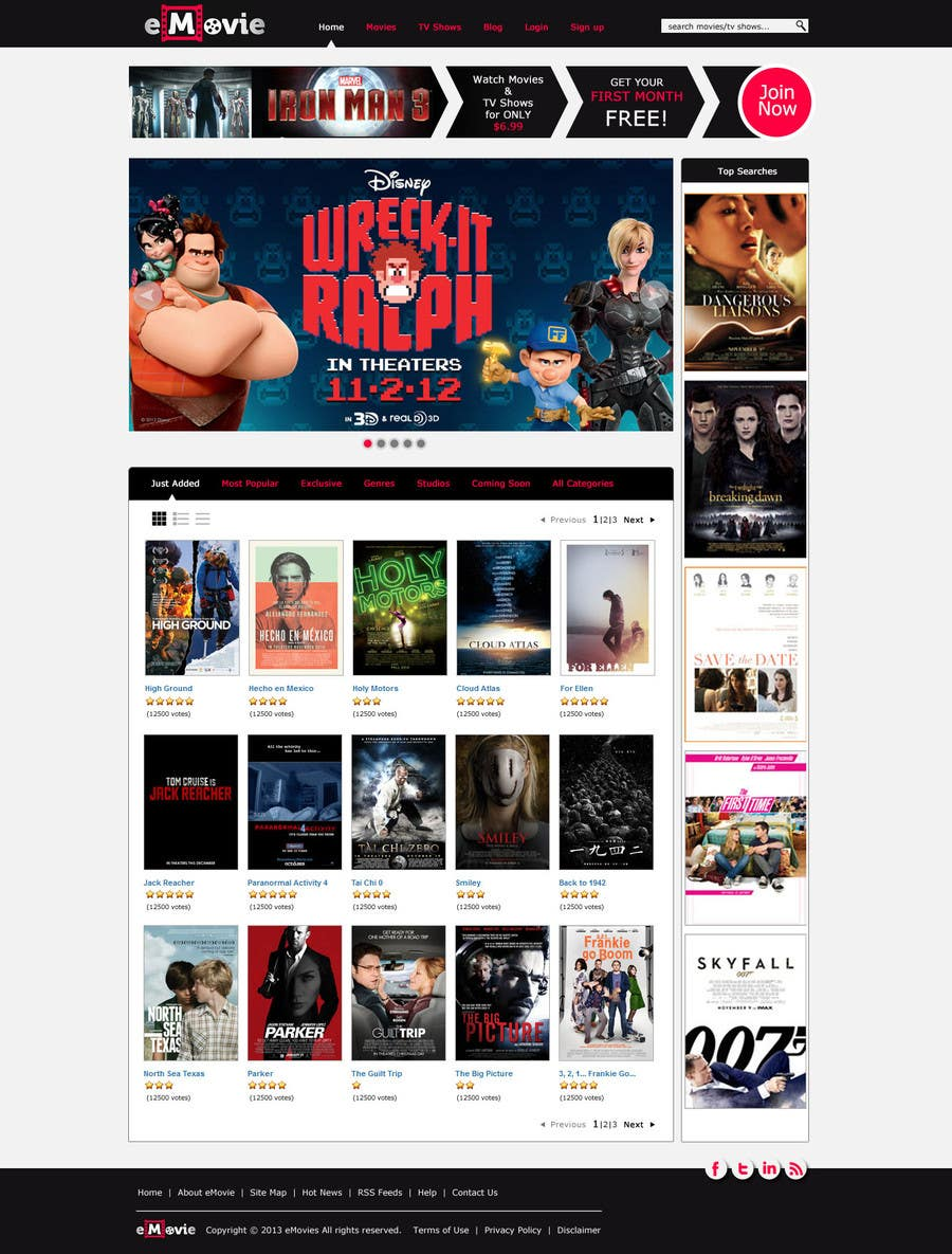 #29 for Website Design for eMovie - Online Movie Streaming by indrasan99