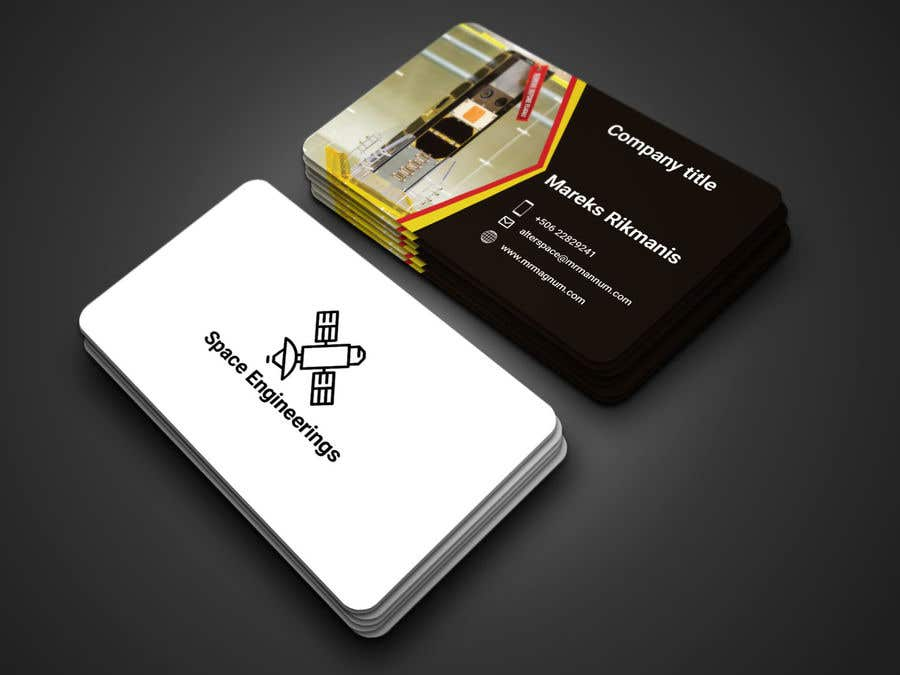 Entry 94 by munnaaziz02 for design business cards for space contest entry 94 for design business cards for space engineers colourmoves
