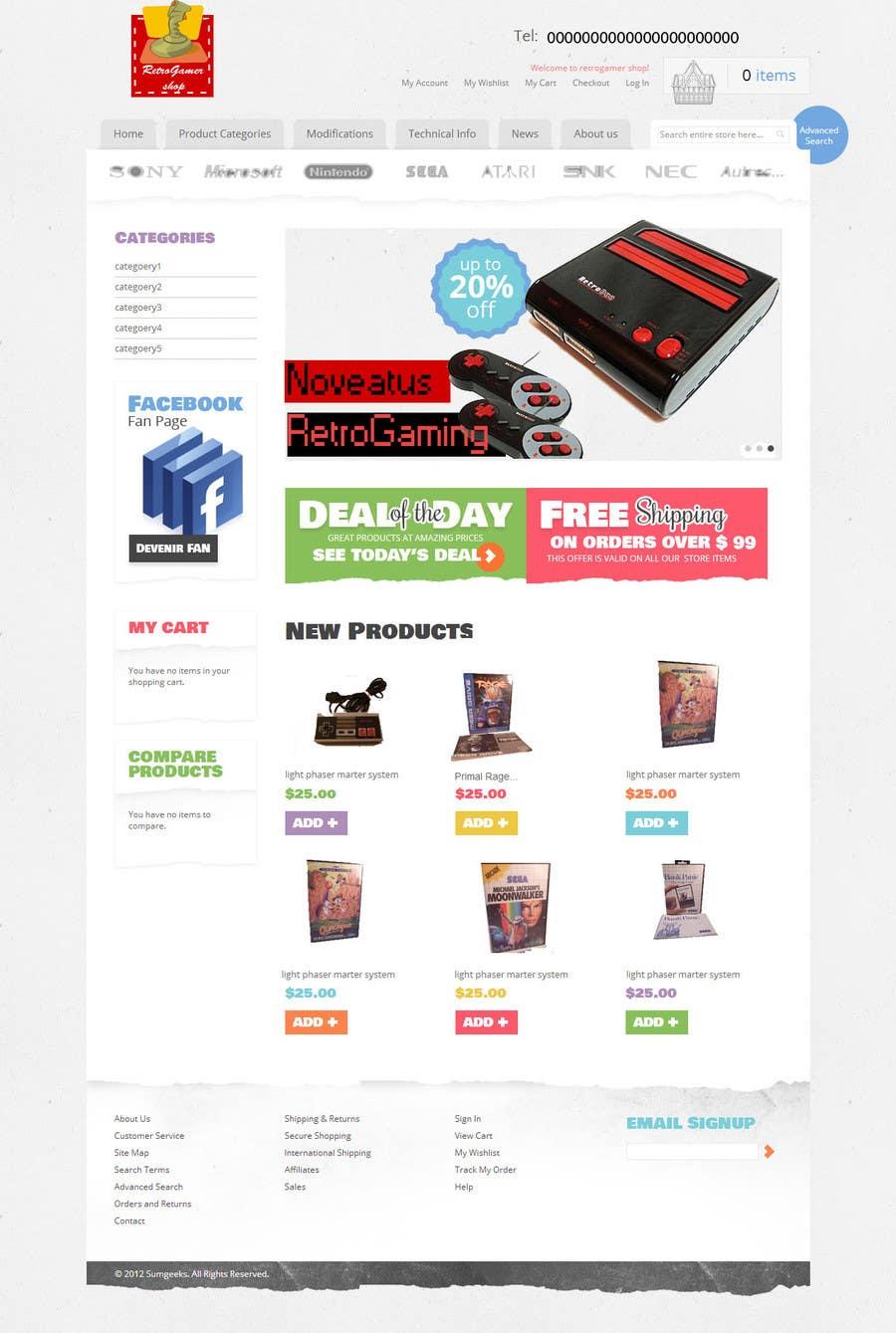 Inscrição nº 6 do Concurso para Website Design for RetroGaming Shop on Magento