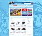 Graphic Design Inscrição do Concurso Nº7 para Website Design for RetroGaming Shop on Magento