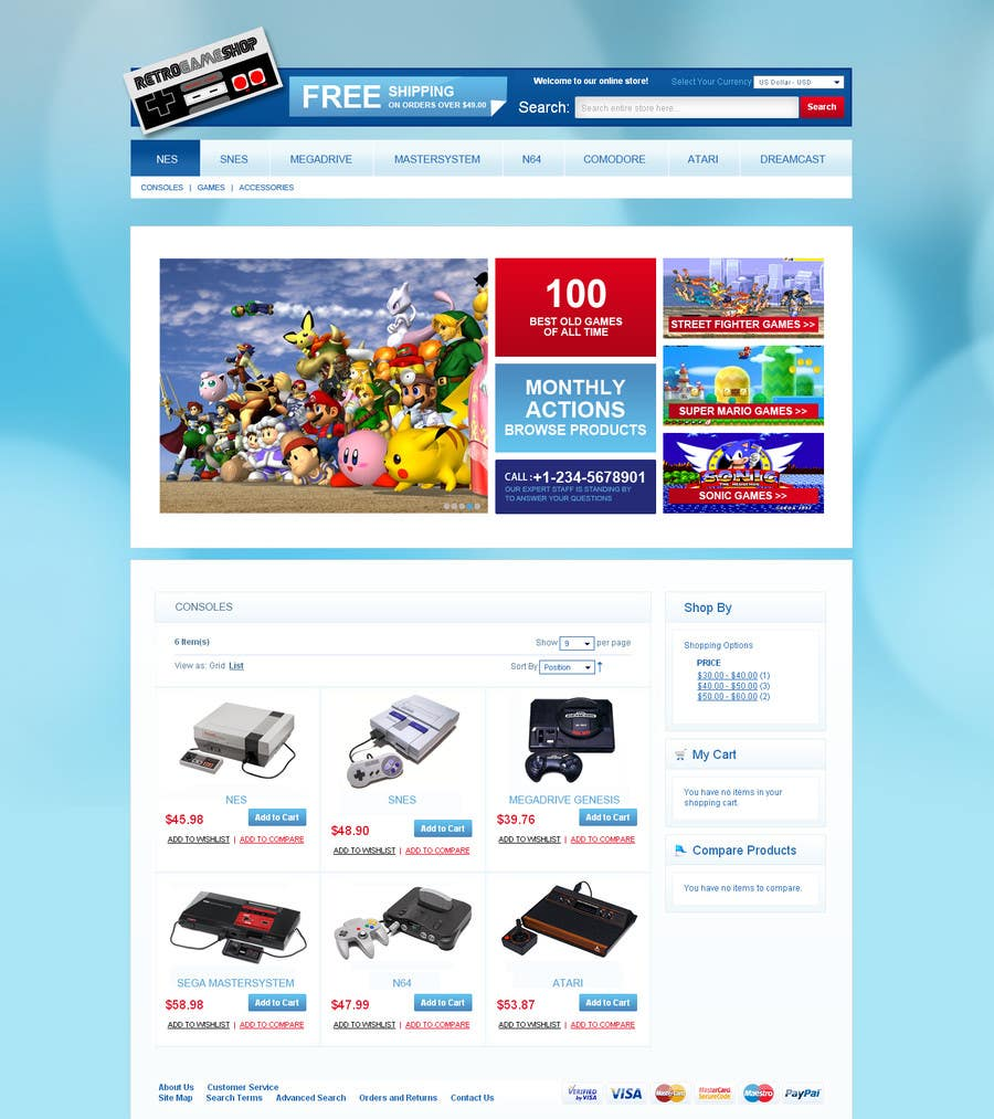 Entry #2 by impact27 for Website Design for RetroGaming Shop