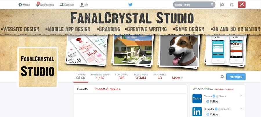 Konkurrenceindlæg #                                        17                                      for                                         Design a Twitter Header and Profile Picture for FanalCrystal Studio