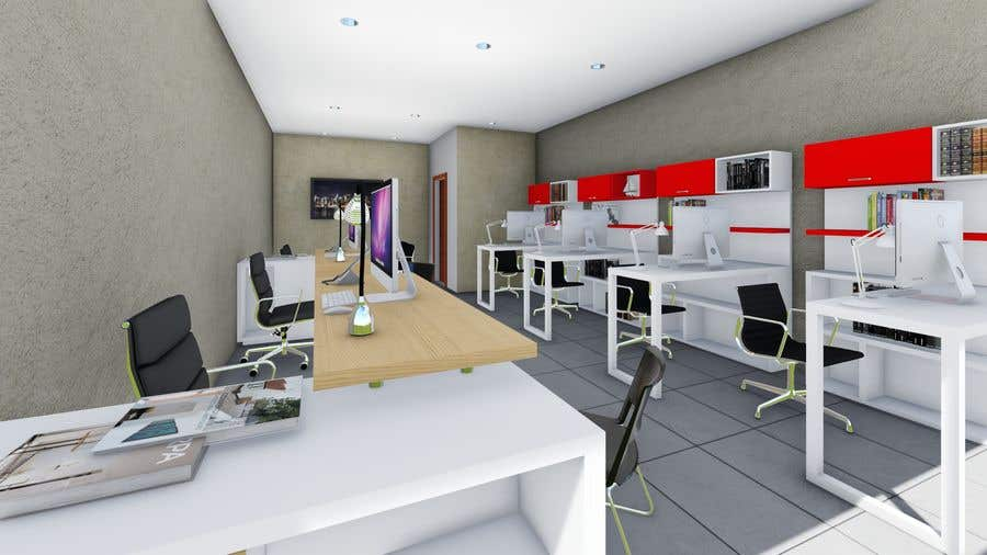 Entry 6 by yaheisa for tiny office distribution 3d peque a oficina distribuci n 3d freelancer for Distribucion oficinas