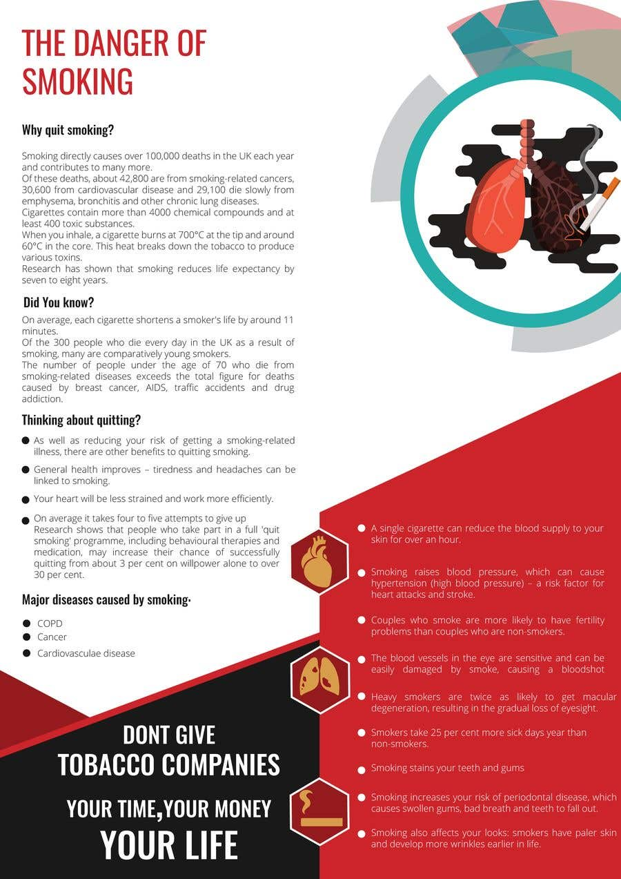 Entry #21 by Sumonrm for Simple Smoking Infographic Contest