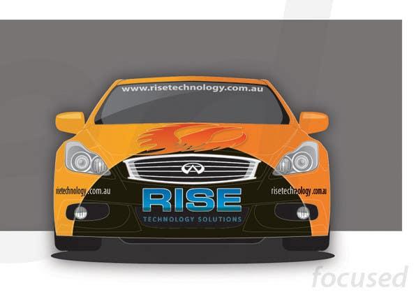 Konkurrenceindlæg #                                        27                                      for                                         Car Wrap Design for RISE Technology Solutions