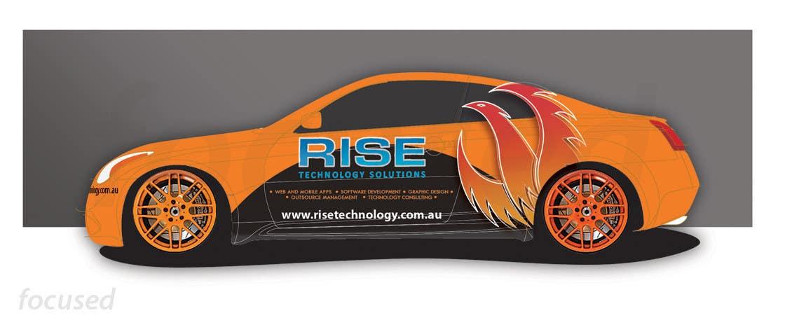 Bài tham dự cuộc thi #                                        29                                      cho                                         Car Wrap Design for RISE Technology Solutions