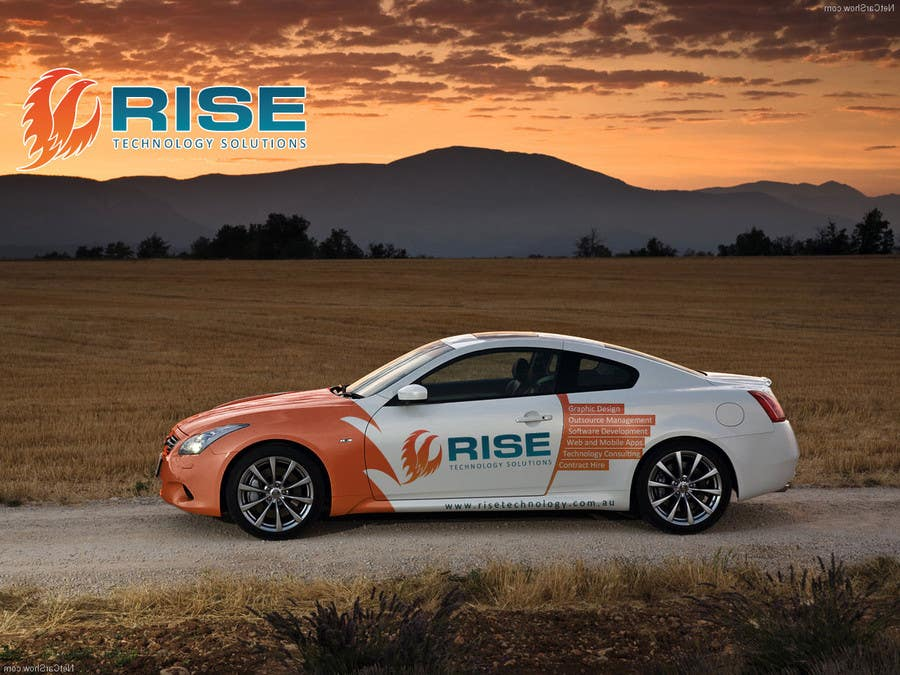 Bài tham dự cuộc thi #                                        53                                      cho                                         Car Wrap Design for RISE Technology Solutions