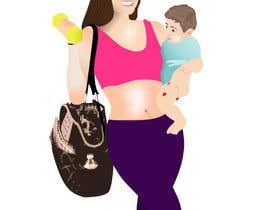 Nro 27 kilpailuun Design a Logo for Fitness Mom Lifestyle käyttäjältä rogdesigns