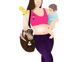 Nro 32 kilpailuun Design a Logo for Fitness Mom Lifestyle käyttäjältä rogdesigns