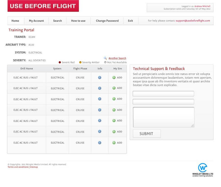 Penyertaan Peraduan #                                        36                                      untuk                                         Website Design for Use Before Flight
