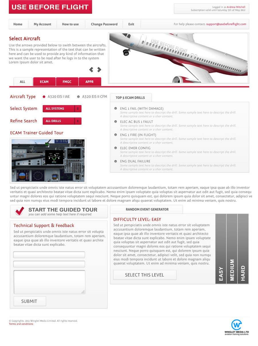 Bài tham dự cuộc thi #32 cho Website Design for Use Before Flight