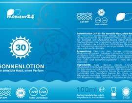 Nro 4 kilpailuun Erstellung bzw. Adaptierung 2x Etikett für Sonnencreme käyttäjältä enes2707