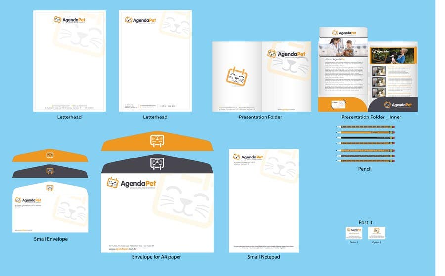 Конкурсная заявка №11 для Stationery Design for AgendaPet