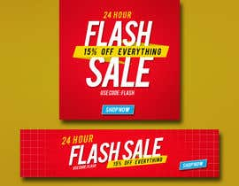 #9 untuk Design an email Banner + 2 matching website banners for a 24 hour flash sale oleh akidmurad