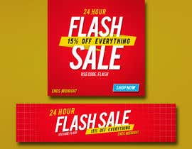 #10 untuk Design an email Banner + 2 matching website banners for a 24 hour flash sale oleh akidmurad