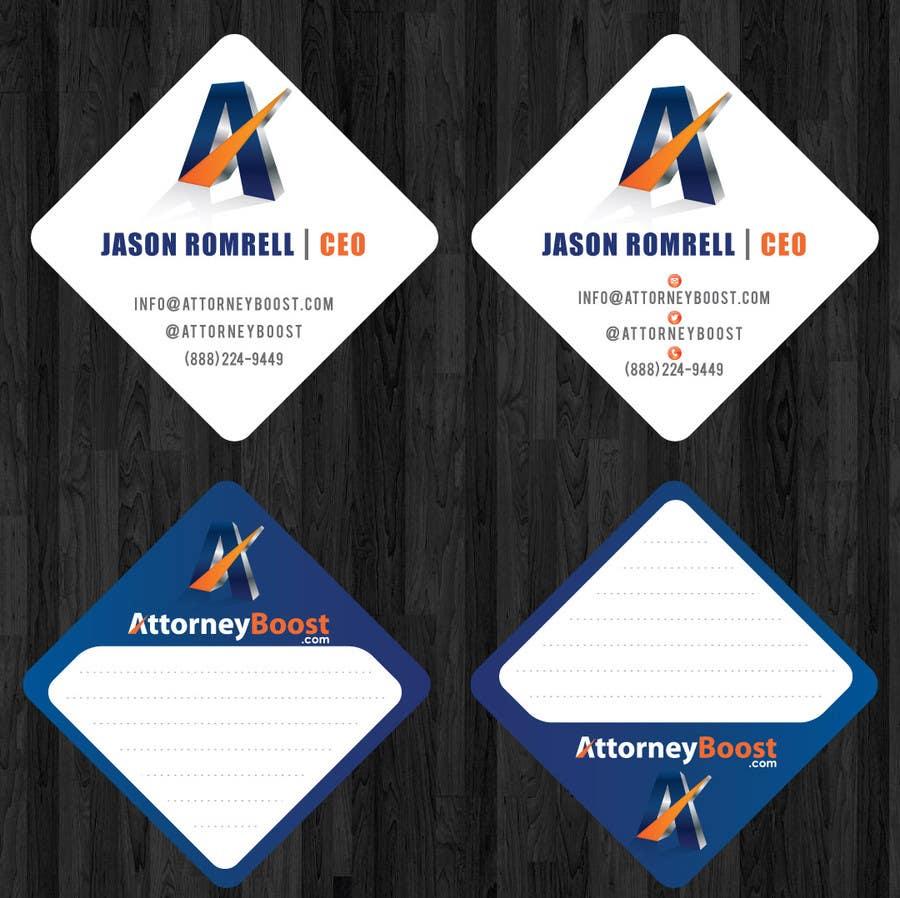 Penyertaan Peraduan #230 untuk Business Card Design for AttorneyBoost.com