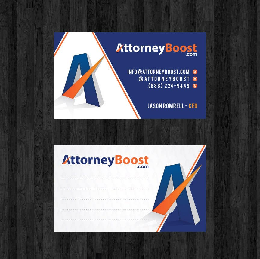 Konkurrenceindlæg #160 for Business Card Design for AttorneyBoost.com