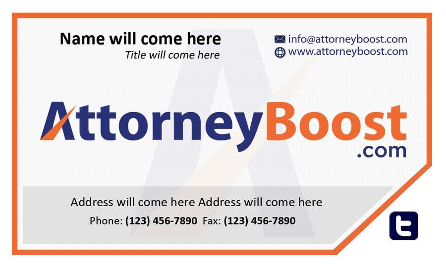 Penyertaan Peraduan #108 untuk Business Card Design for AttorneyBoost.com
