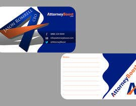 nº 244 pour Business Card Design for AttorneyBoost.com par ganeshnachi