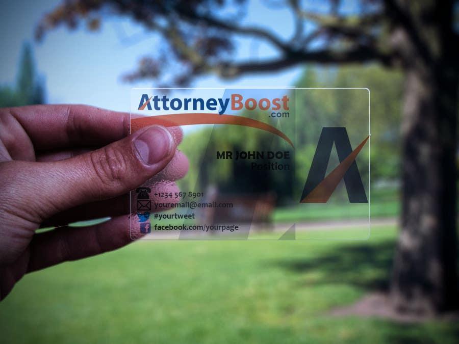 Penyertaan Peraduan #247 untuk Business Card Design for AttorneyBoost.com