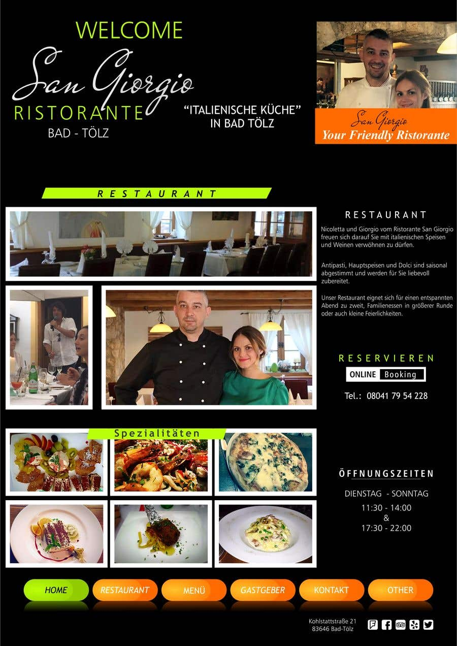 entry 24 by sansar1 for design menu pages for italian restaurant