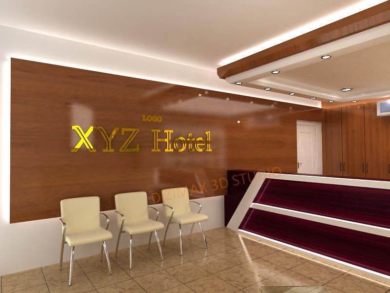 Entry #21 by reyyaricha for Design a hotel restaurant reception area ...