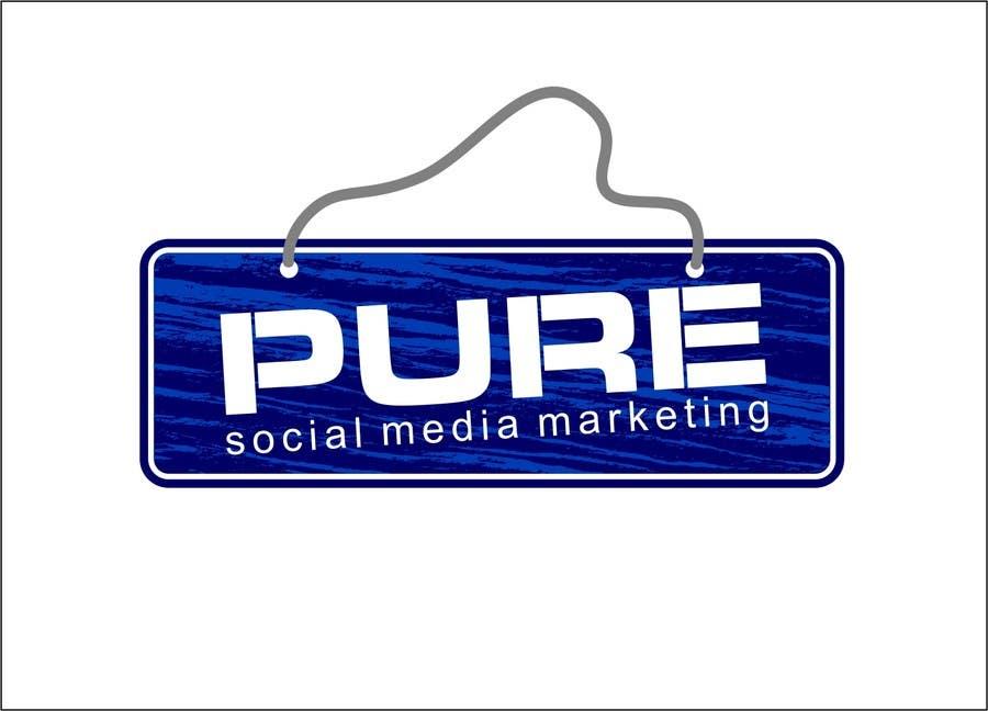 Bài tham dự cuộc thi #227 cho Logo Design for PURE Social Media Marketing