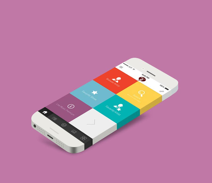 Entry #24 by agileviztech for Design for home screen of mobile app ...