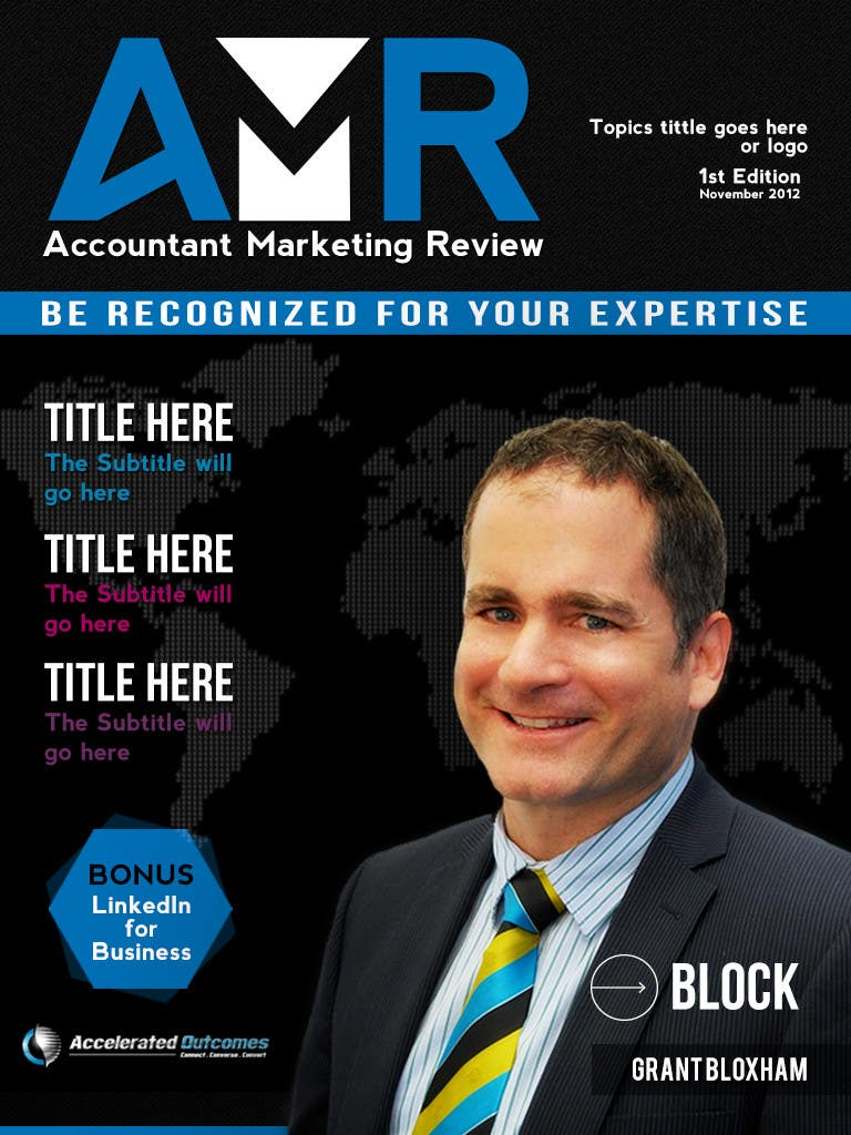 Penyertaan Peraduan #                                        28                                      untuk                                         Graphic Design for Accountant Marketing Review Magazine (Edit existing InDesign template)