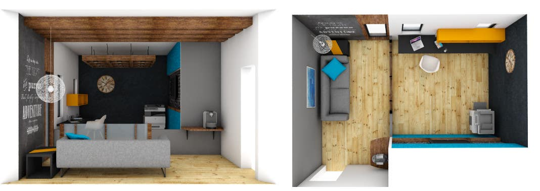 person office layout. contest entry 65 for single person office layout u0026 3d render e