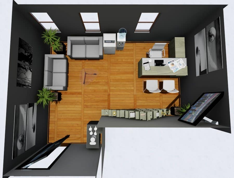 entry 76 by davidtorres82 for single person office layout