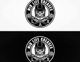 #100 para Motorcycle Gang/Harley Davidson style Logo for men's lacrosse team de pencey