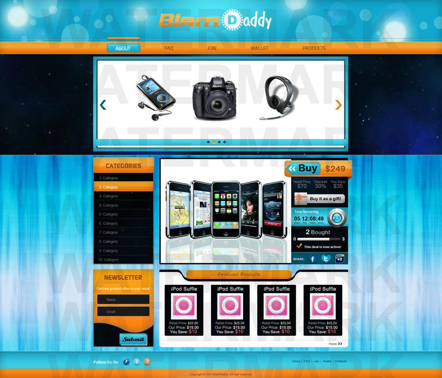 Contest Entry #                                        29                                      for                                         Website Design for Blam Daddy Inc.