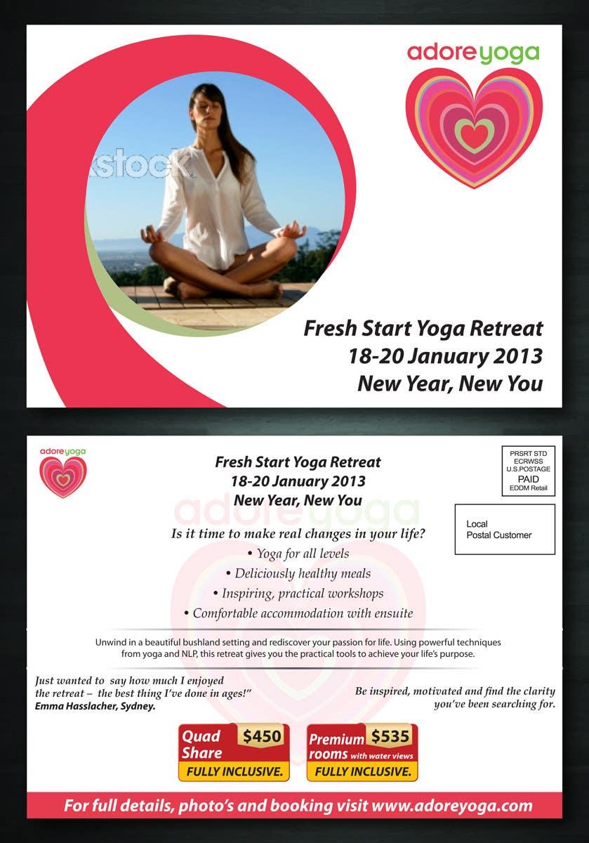 Inscrição nº 43 do Concurso para Marketing postcard for Adore Yoga
