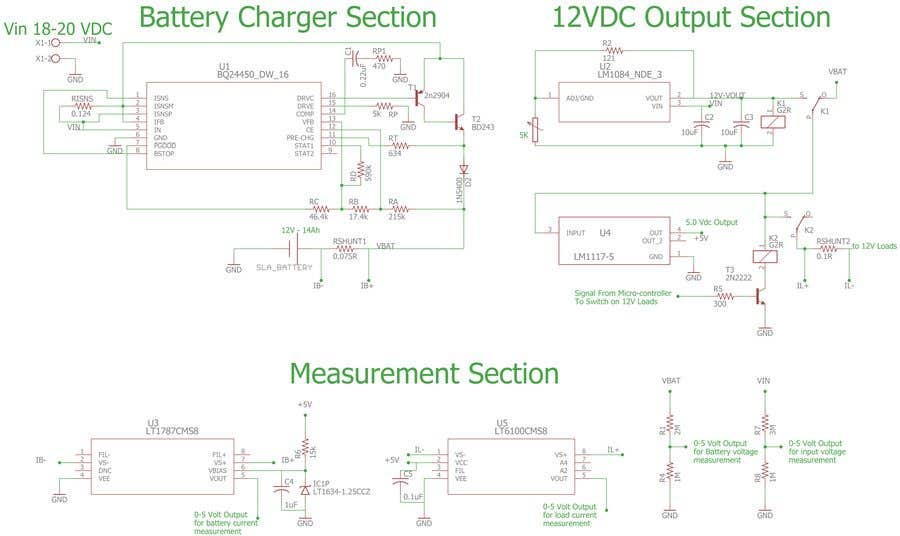 Entry #3 by ovaisiq for 12v Battery Backup PSU circuit