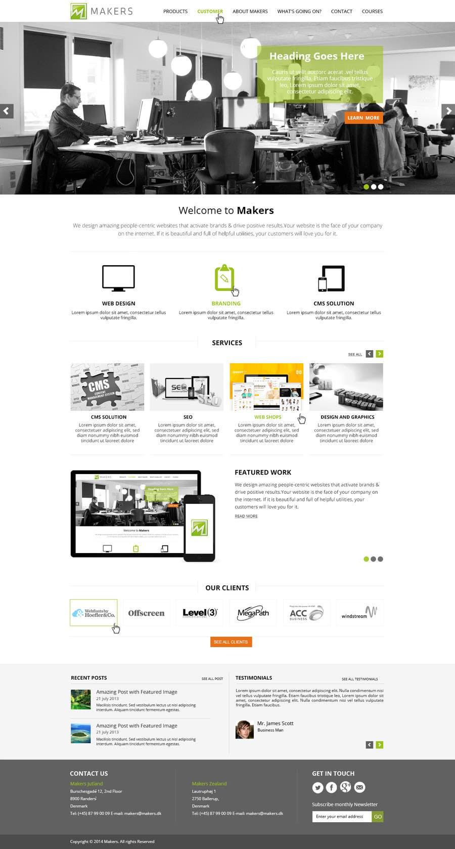 Konkurrenceindlæg #                                        29                                      for                                         Design a Website Mockup for http://makers.dk