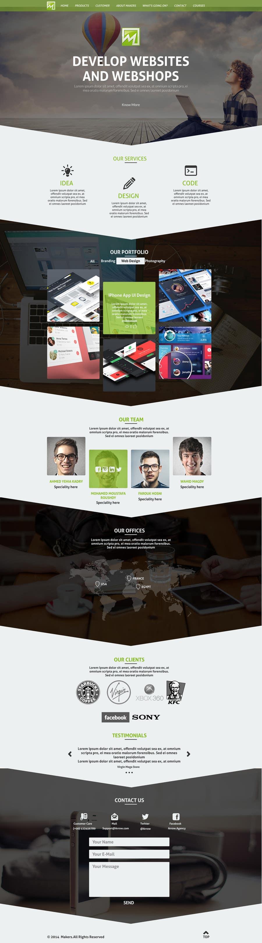Konkurrenceindlæg #                                        19                                      for                                         Design a Website Mockup for http://makers.dk