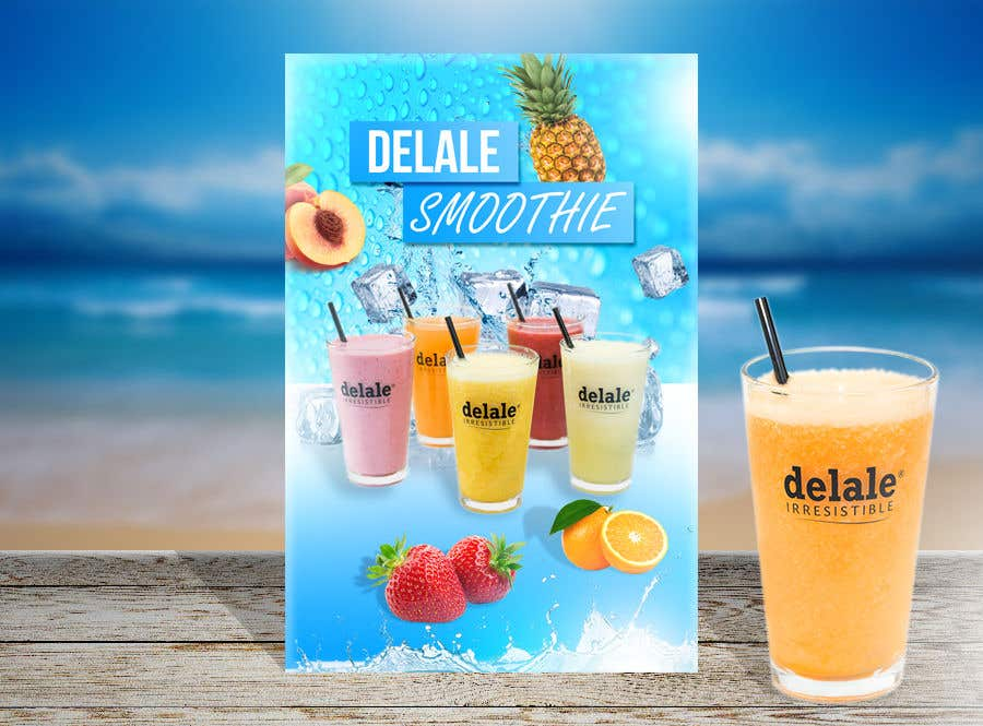 Contest Entry #                                        85                                      for                                         Design window advertisement poster - Make drink sweat effect