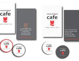"nº 10 pour Design of 2 business cards, a ""Free Coffee"" card and a sticker logo par LillyPetrova"
