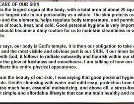 #56 untuk Write about how to take care your skin or review on popular products oleh sanXus06012014