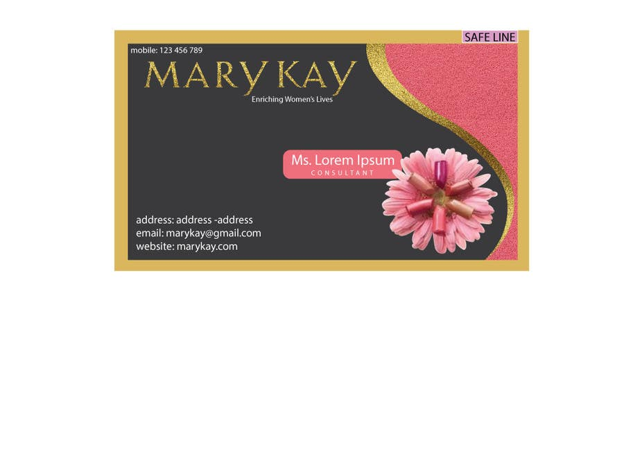 Entry 14 by rodelgarcia for design some business cards for a new contest entry 14 for design some business cards for a new mary kay business colourmoves