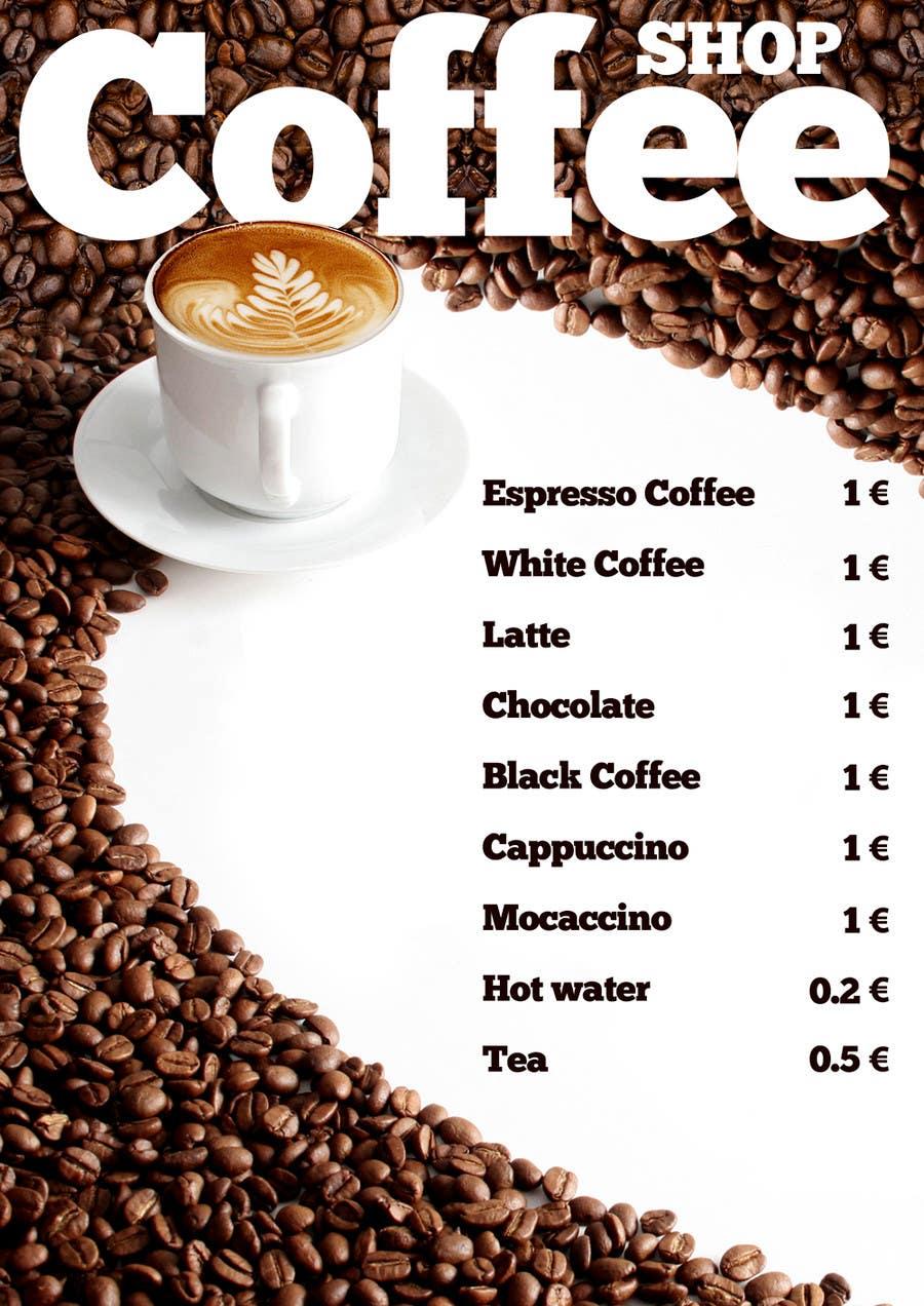 Interesting Coffee Price List Design Freelancer