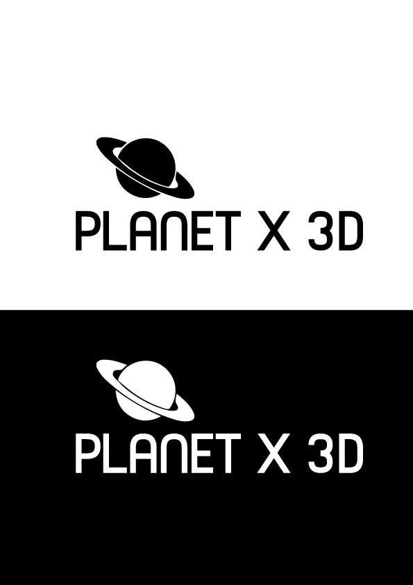 Entry 16 By Mehedimasudpd For Design A One Color Logo Planet X 3d